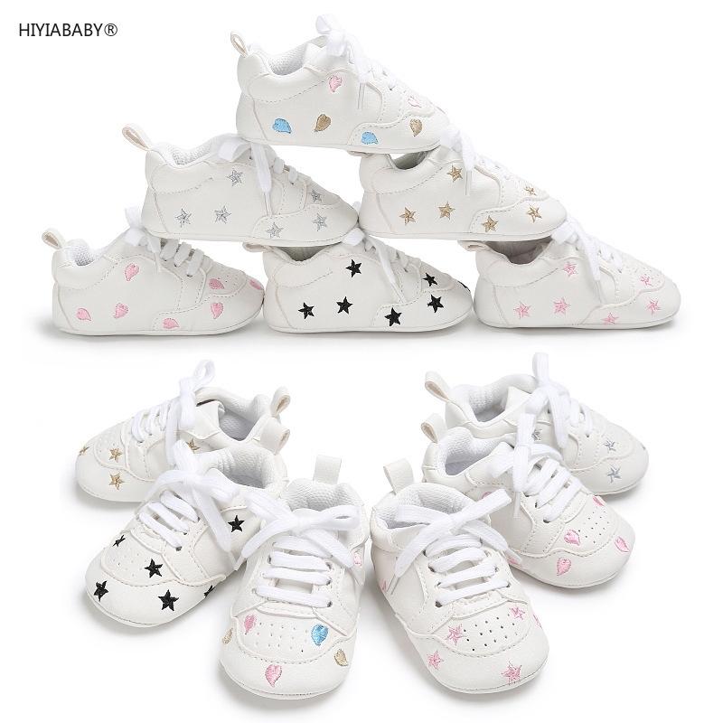 春秋0-1歲男女寶寶膠底星星防滑嬰兒學步鞋