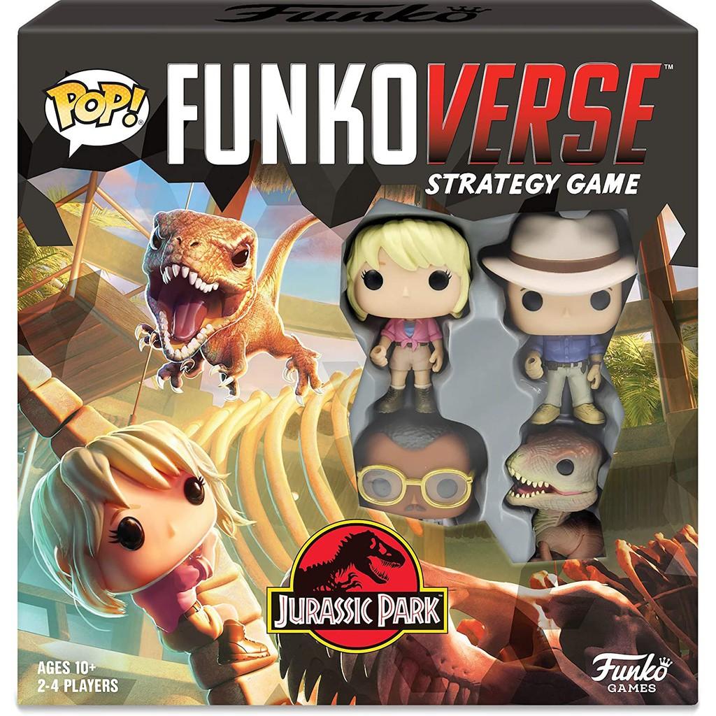 {克拉克玩具} FUNKO POP Jurassic Funkoverse 侏羅紀公園 桌遊