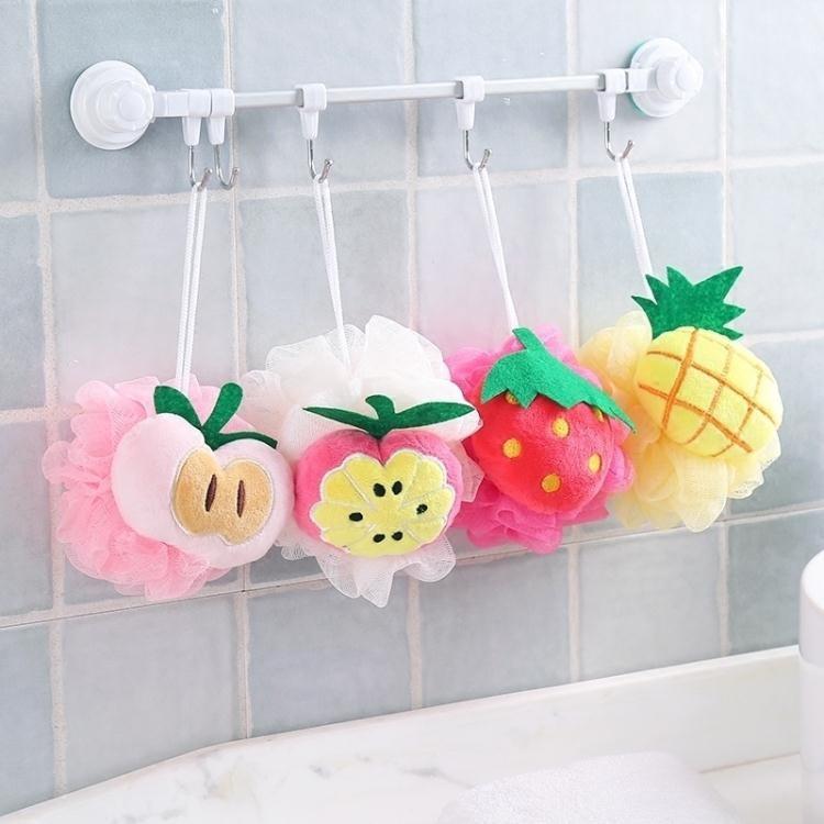 關注店鋪領取八折優惠-水果造型洗澡沐浴球浴花浴球沐浴柔軟大號起泡球浴擦去角質搓澡巾·