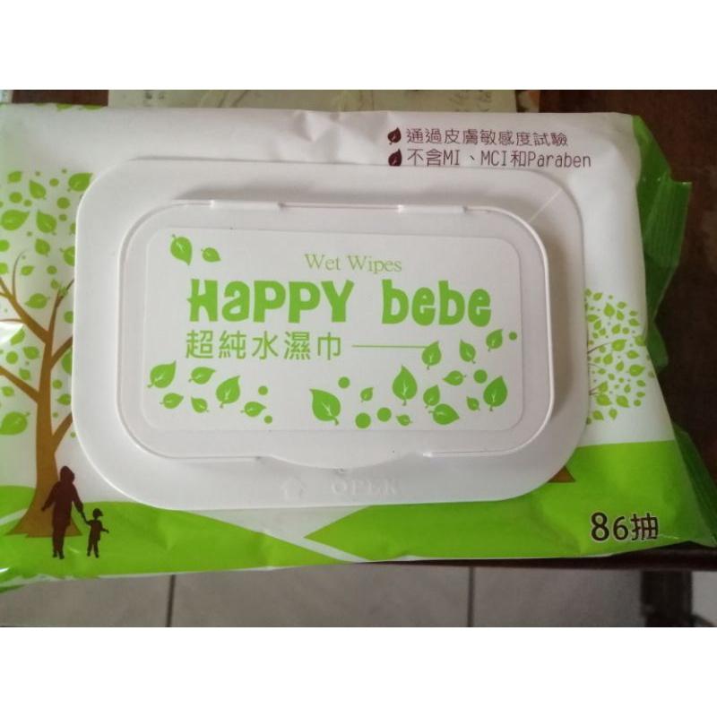 HappyBebe濕巾綠蓋86抽/4包