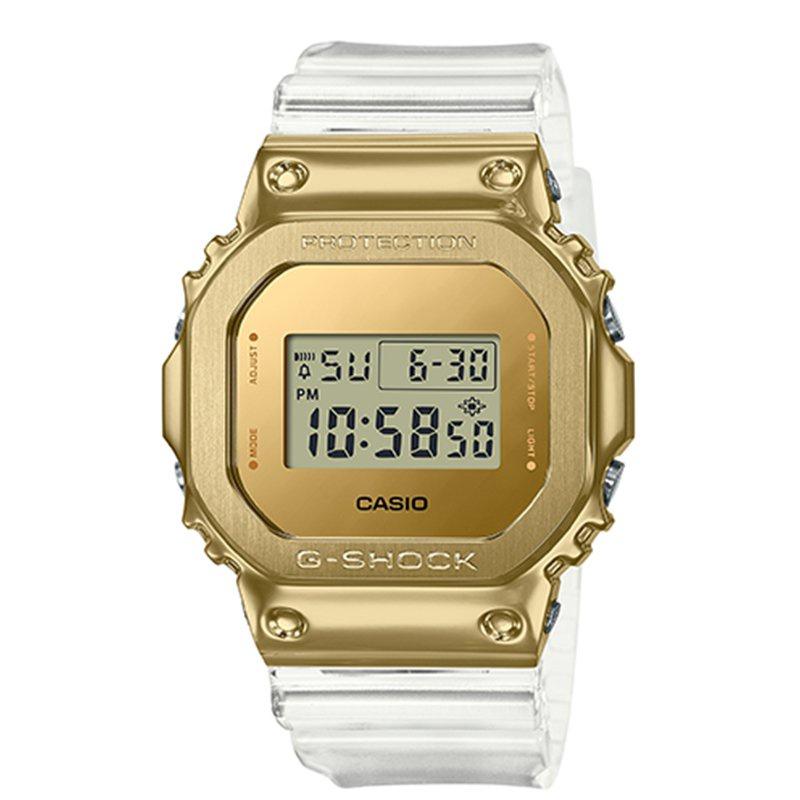卡西歐手錶男小方塊G-SHOCK限量新款冰川金透明錶帶GM-5600SG-9