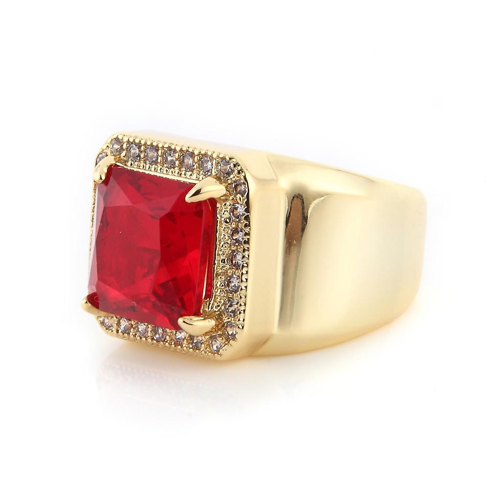 SOLO Zircon Ring 梯切鋯石戒指 時尚潮流方鋯戒指 黃金