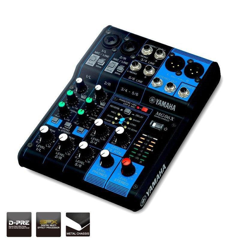 [分期免運] YAMAHA MG06XU 類別旋鈕式 混音器 混音機 MG06X 公司貨 [唐尼樂器]