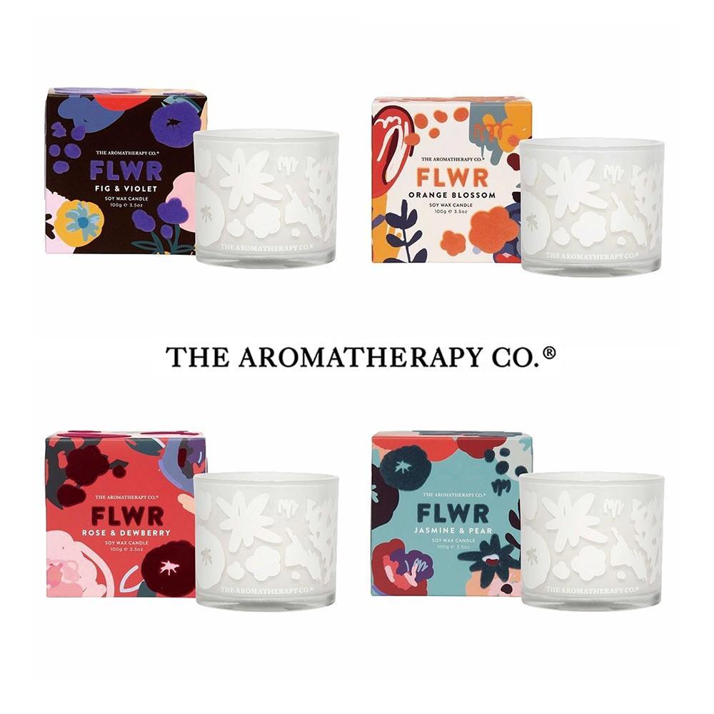 【THE AROMATHERAPY CO.】紐西蘭 FLWR系列 100g 香氛蠟燭 香氛 精油 居家【JC科技】