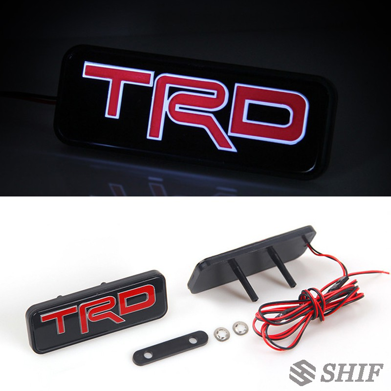 1 X TRD標誌LED燈前格柵格柵標誌標誌貼紙徽章適合豐田