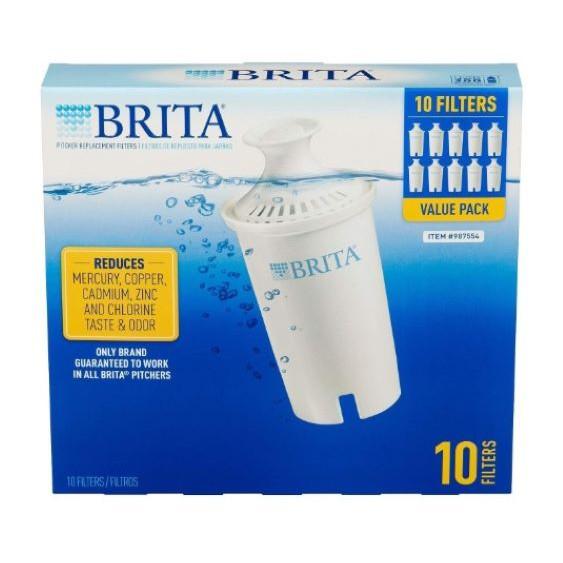 Brita 濾水壺8周圓形濾心/濾芯 10入 和舊款相容 效率更好可過濾151公升