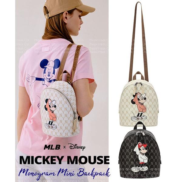 MLB X Disney 迪士尼 聯名款 洋基NY 洛杉磯LA 米奇圖案 後背包 小後背包