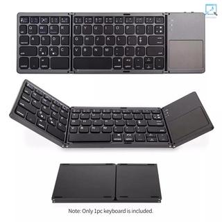 迷你無線 BT 可折疊鍵盤,  帶觸摸板超薄便攜式旅行鍵盤可充電電池,  兼容 Windows iOS Android 智能