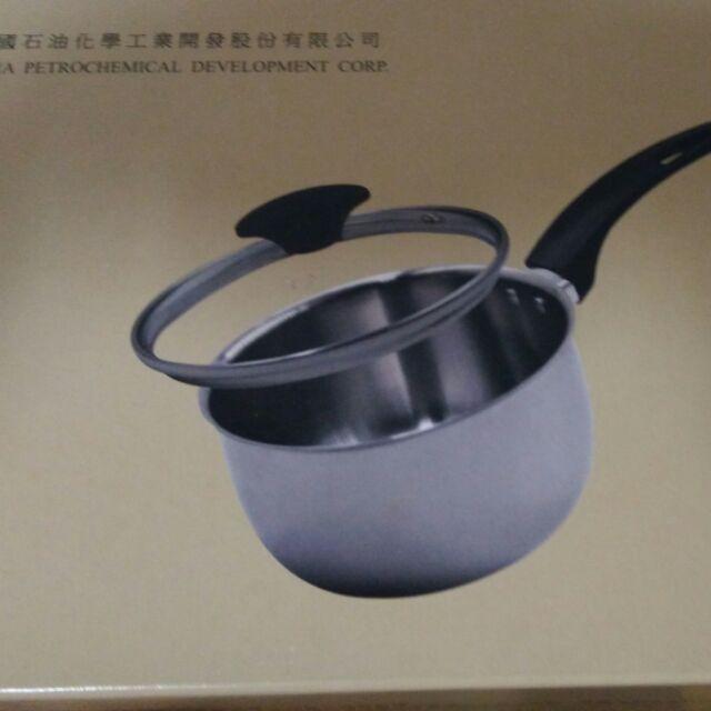 中石化股東會紀念品 不鏽鋼 單柄小湯鍋
