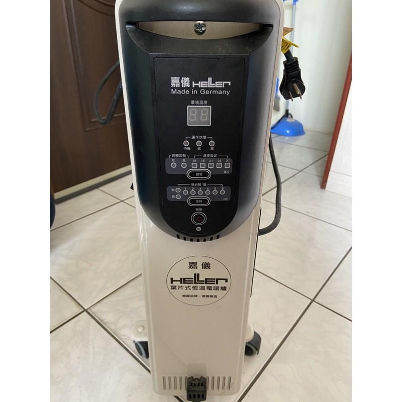 HELLER德國 嘉儀葉片 電子式 電暖器 12片 KED512T 不耗氧 不乾燥 全球首創Turbo快熱送循環風扇