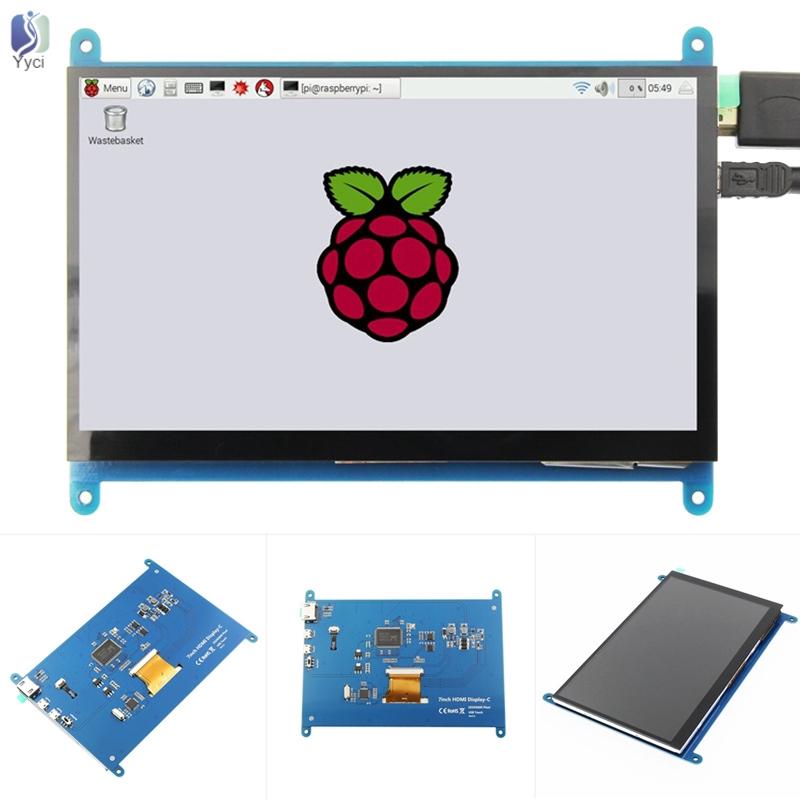 YY 7英寸1024 x 600 HD IPS LCD顯示屏觸摸屏,適用於Raspberry pi / Banana P