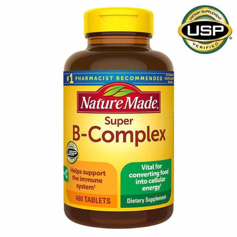美國Nature made Super B-Complex  萊萃美 維他命B群+維他命C 超級B群 大容量460顆
