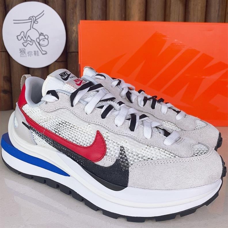 【KL潮鞋工作室】 熱賣 Sacai x Nike VaporWaffle 聯名 白色 紅 藍 解構 男女鞋 C