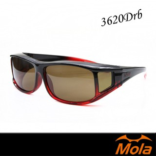 MOLA摩拉女生包覆式偏光太陽眼鏡 套鏡 墨鏡 近視/ 老花可戴 3620Drb 臺南市