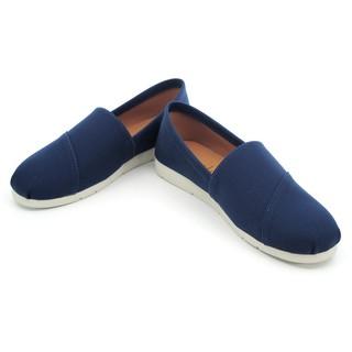【101玩shoes】藍色 MIT素色丹寧平底簡約百搭女鞋帆布鞋休閒鞋懶人鞋  36.38碼 台南市