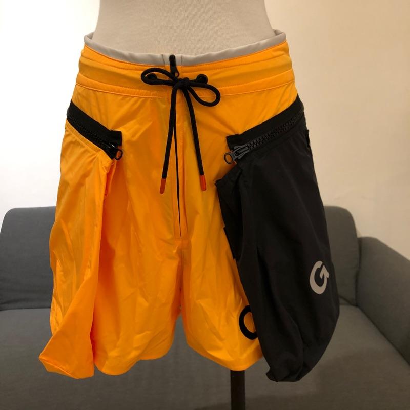Nike ACG 全新沒穿過 高腰桔黑撞色大口袋運動短褲褲裙 保證正品