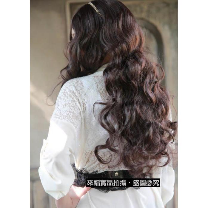 樂來福,W30假髮中分假髮美色大波浪中長髮假髮附實拍,售價420元