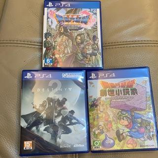 PS4 正版 二手遊戲 勇者鬥惡龍11/ 創世小玩家1/ Destiny2 新竹市