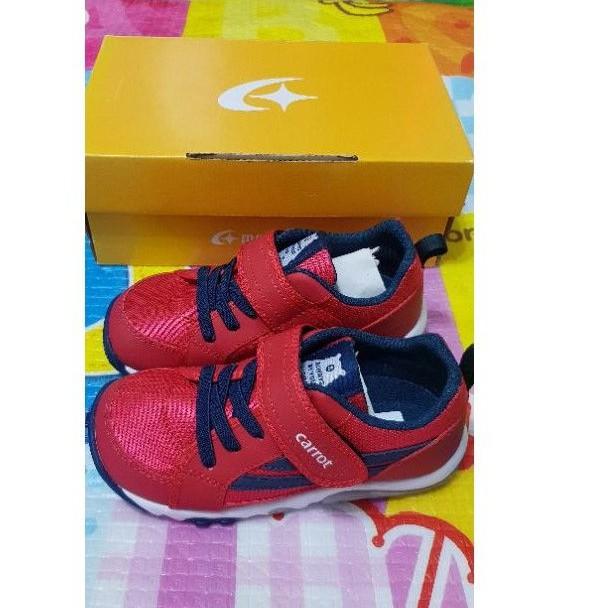 二手 moonstar 月星 Carrot 兒童 機能運動鞋 公園鞋 尺寸18 紅色 0906-22