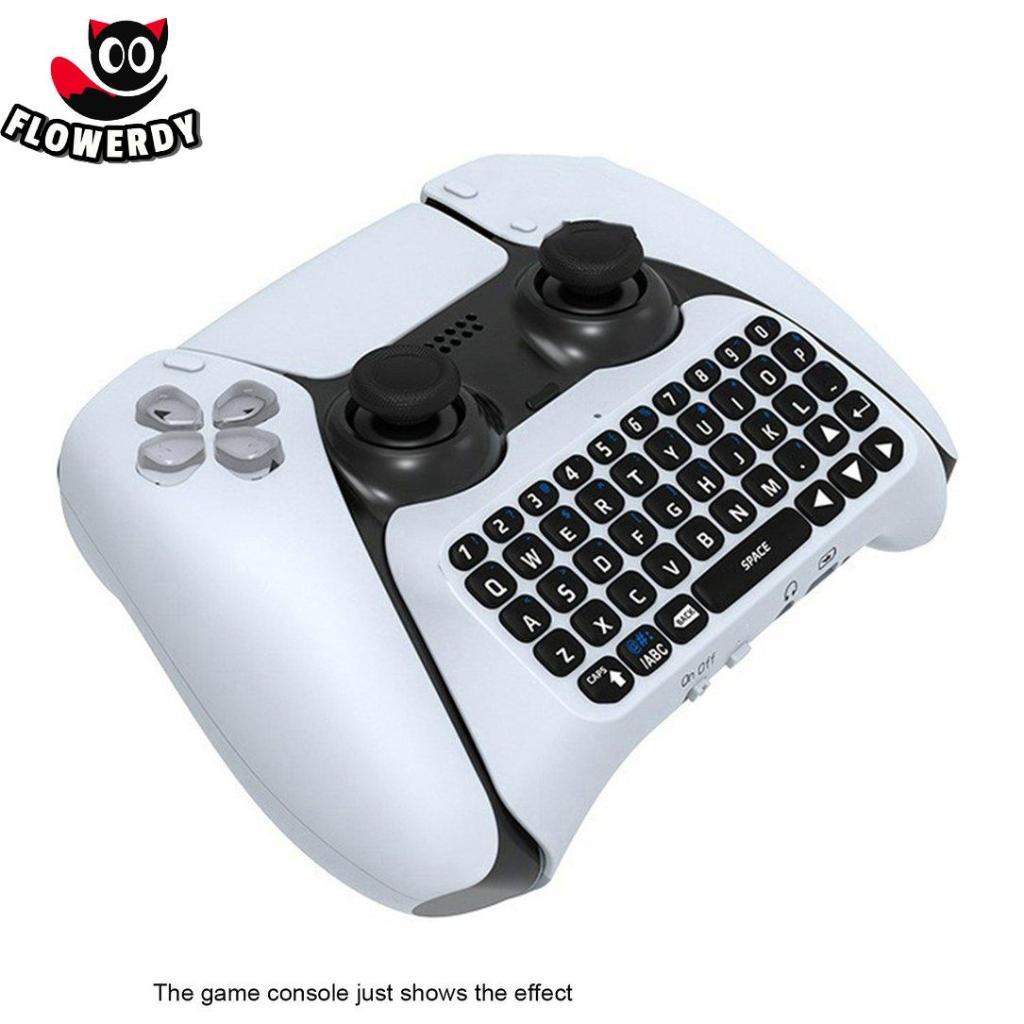 外置語音無繩鍵盤適用於 PS5 遊戲手把聊天語音內置揚聲器高靈敏度易於安裝