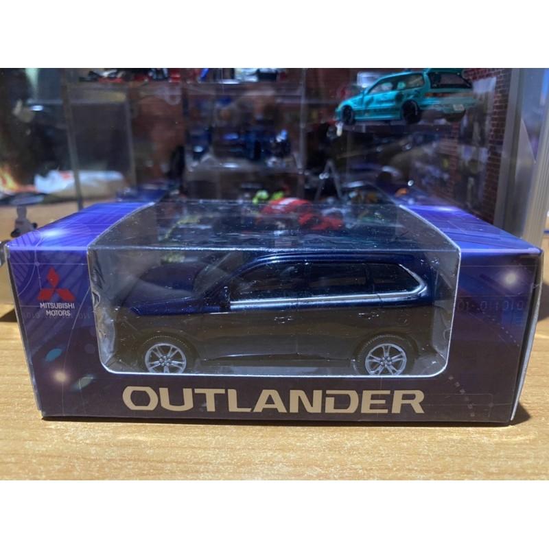 MITSUBISHI OUTLANDER 1/43 1:43 三菱 原廠模型車 LED燈光 迴力車 玩具車 歐藍德