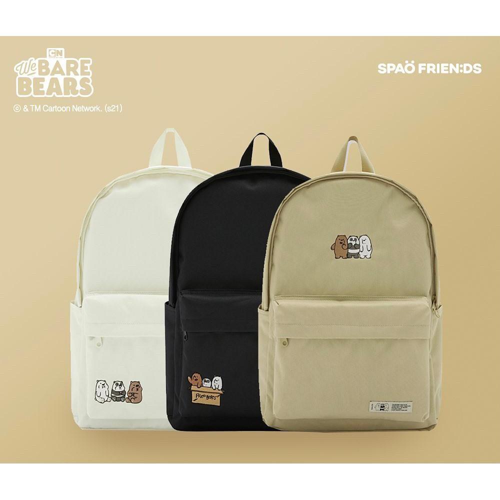【預購】 韓國 SPAO x 熊熊遇見你 聯名 後背包 書包 學生包 休閒包 背包 大大 阿極 胖達