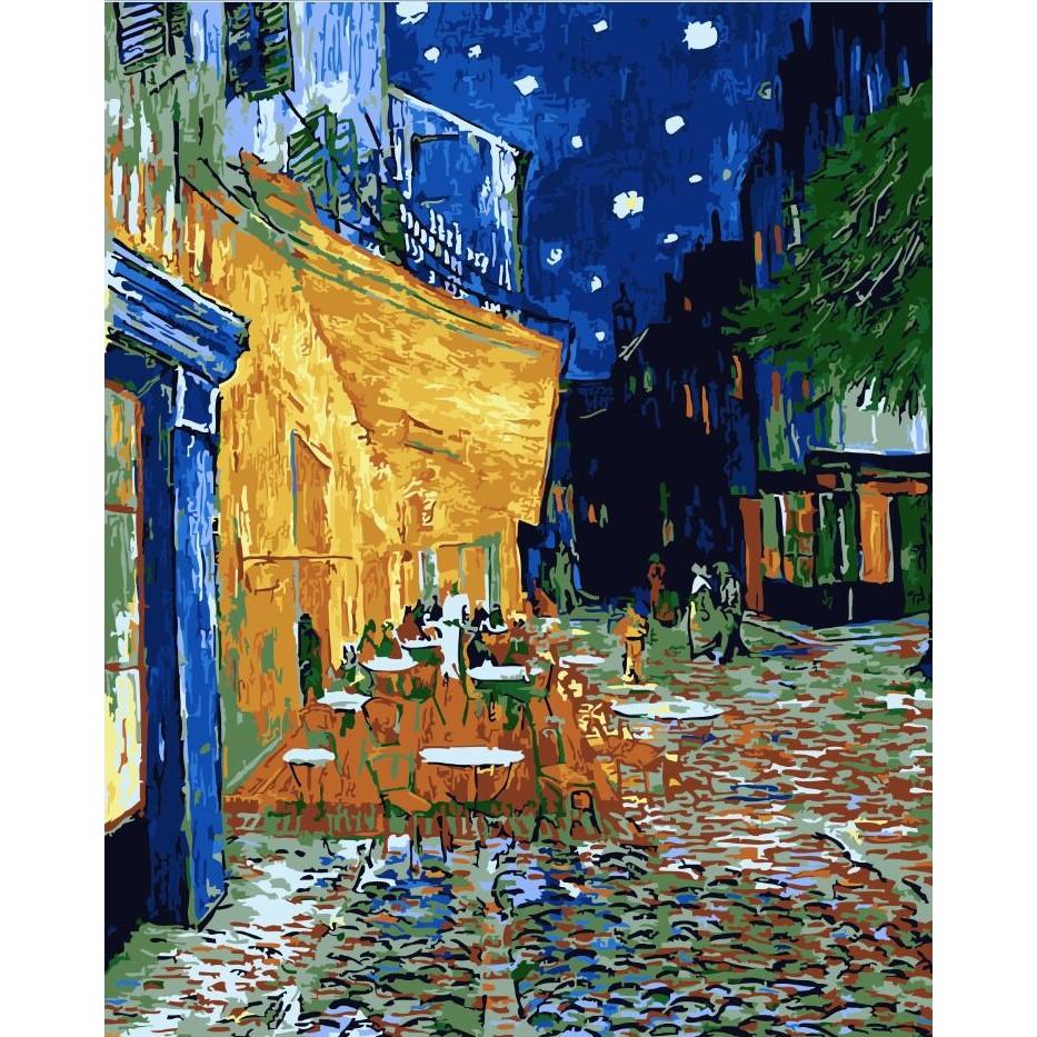 ArtLife 藝術生活 DIY 數字 油畫 彩繪 DT083 梵谷 夜晚露天咖啡座 40X50cm