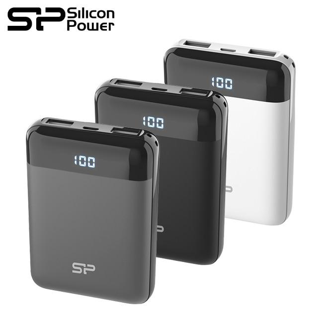 廣穎 GP25 行動電源 10000mAh 2.1A 雙埠USB 快充 螢幕電量顯示 附 收納袋