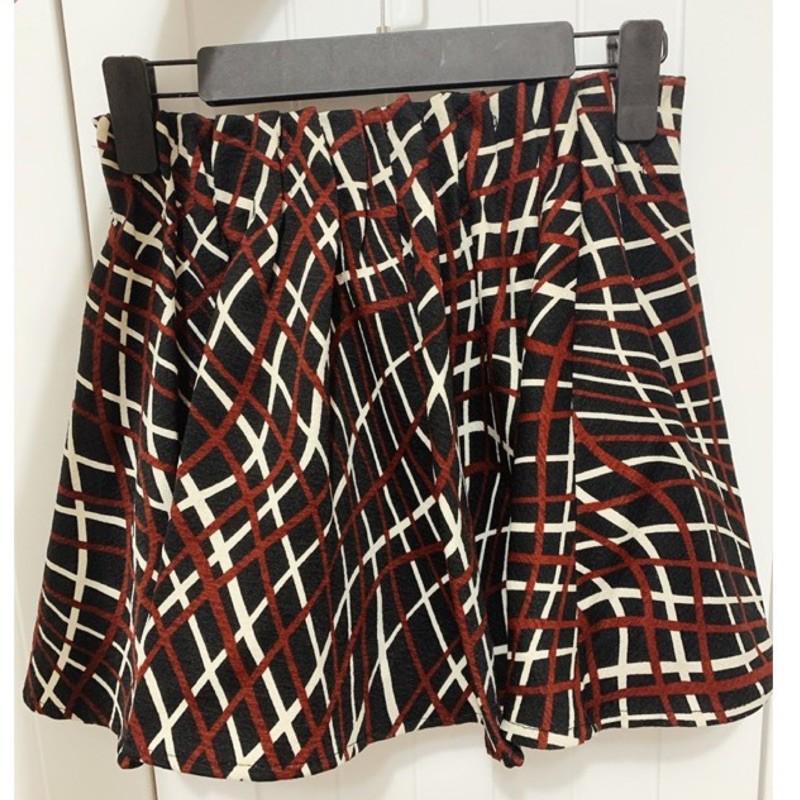 韓國鬆緊格子褲裙