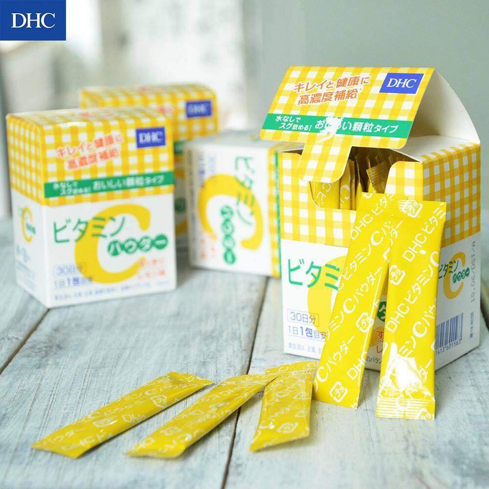 【9/17抵台】日本 境內 DHC 高濃度 維他命C粉 檸檬味 果汁粉  30天份 桃子小姐日貨代購