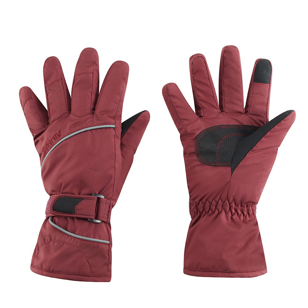 【ATUNAS 歐都納】歐都納防水保暖手套 (A1AG1907N 暗紅/防風/舒適/可調節/反光)