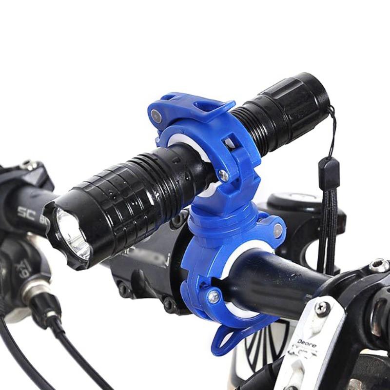 🌴CocoRun🏃360度旋轉萬能燈架燈夾 前置手電筒燈夾 自行車配件