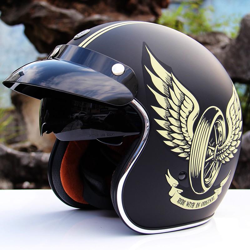 【大雄】美國TORC摩托車頭盔男女機車復古盔半盔電動車踏板車個性酷安全帽