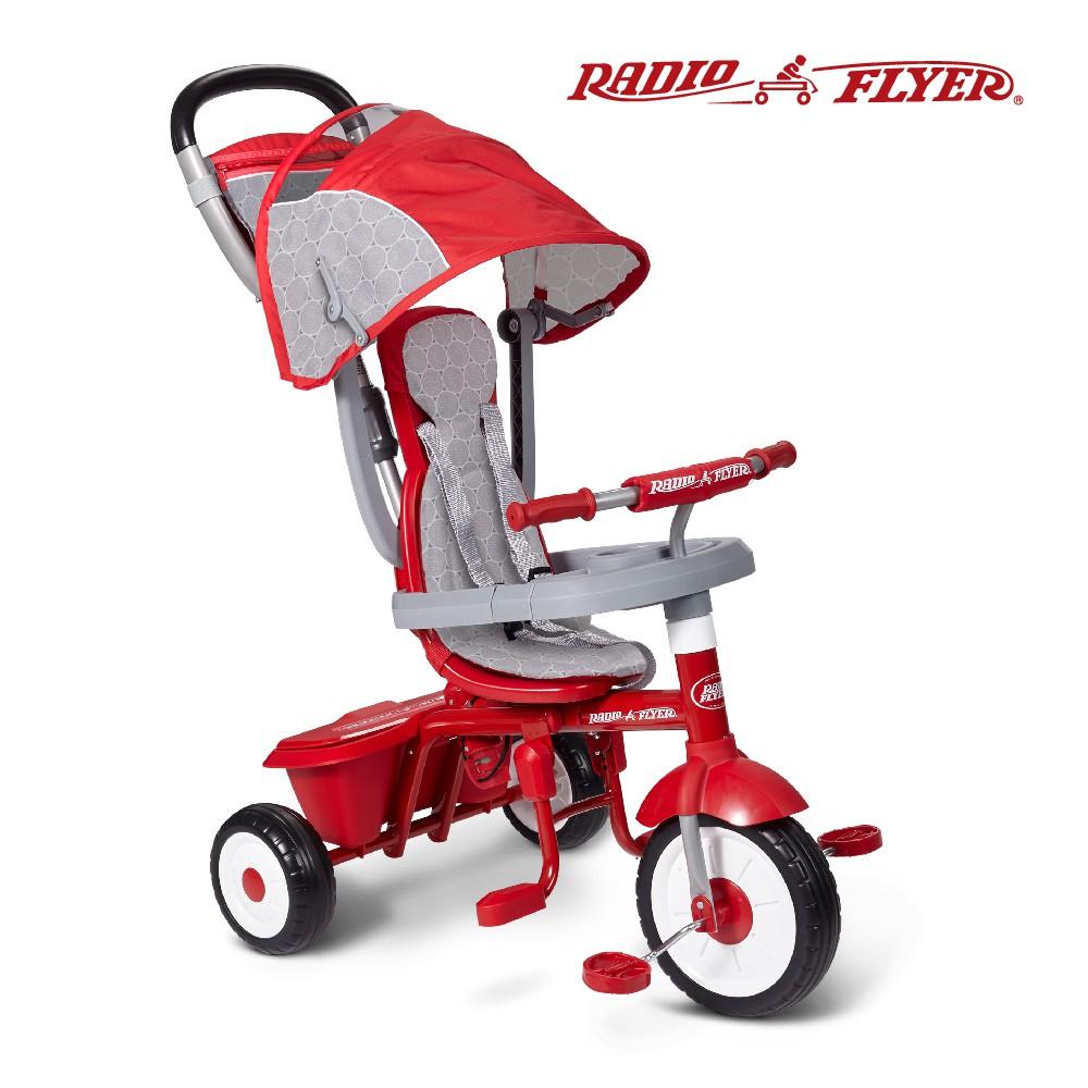 RadioFlyer 小紅蜂四合一折疊三輪推車_449型 兒童 騎乘玩具 三輪車 推車 腳踏車