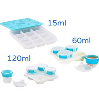 2angels 矽膠副食品儲存盒 15ml/ 60ml/ 120ml 副食品 儲存杯 分裝盒 冰磚盒 分裝杯 冰磚杯 南投縣