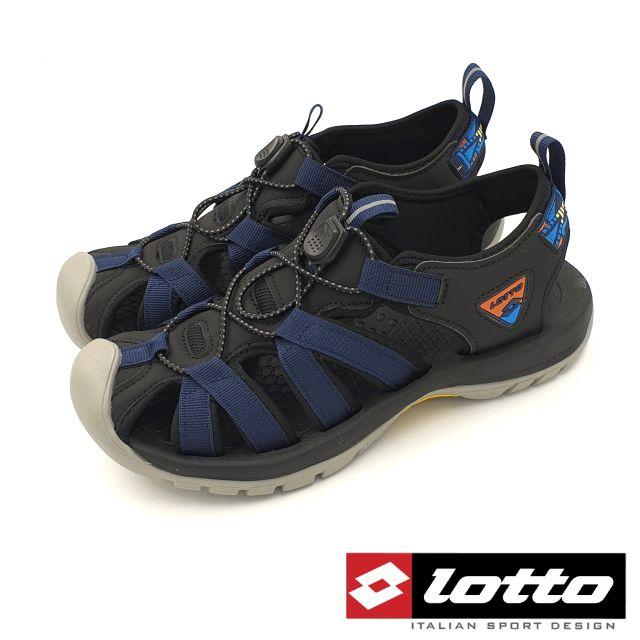 【MEI LAN】義大利 LOTTO (男) 冒險者 輕量 護趾 運動涼鞋 避震 止滑 1926 藍 另有綠色