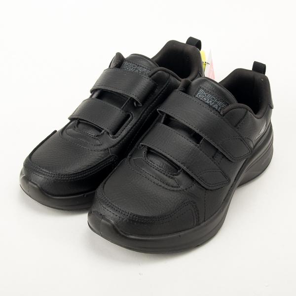 Skechers  女  GOWALK STEADY 皮質健走鞋 全黑 勤務鞋 警察 工作鞋 124116BBK  現貨