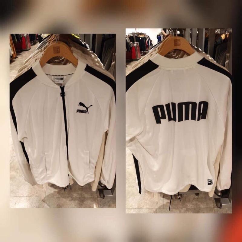 Puma白色無帽外套