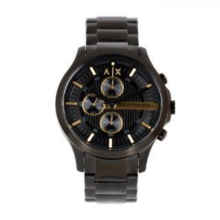 Armani Exchange Hampton AX2164計時男士黑色不鏽鋼Watc手錶