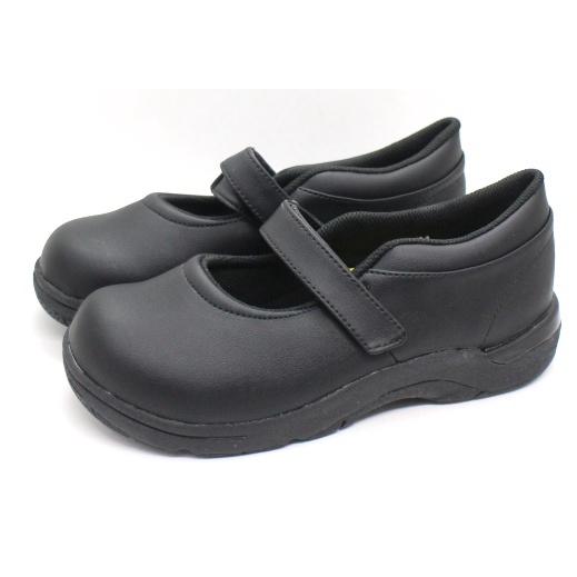 【艾莉絲童鞋】MoonStar日本月星機能學生鞋(女生款)-全黑皮鞋(CRC20886)