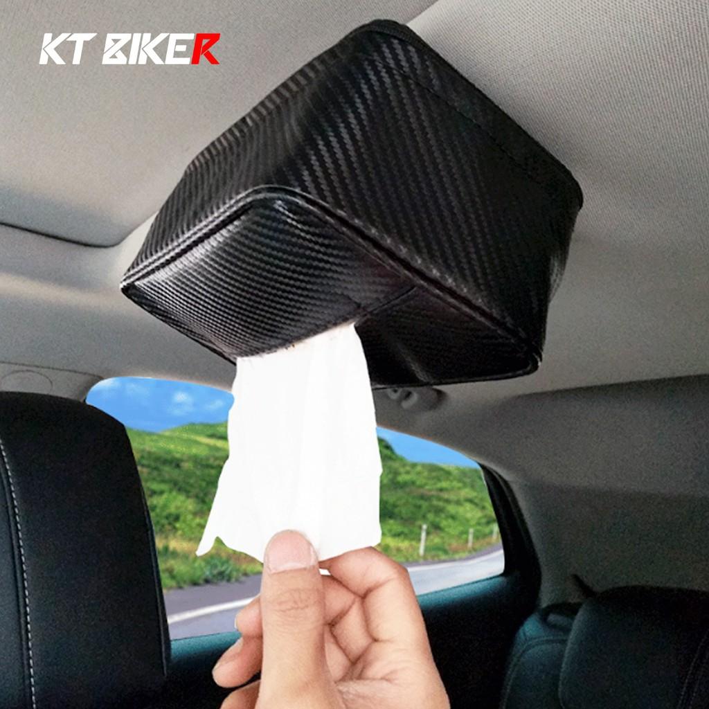【KT BIKER】 磁吸衛生紙盒 強力磁鐵 皮革 車用衛生紙盒 面紙盒 紙巾盒 衛生紙盒 車頂面紙盒〔SSS020〕