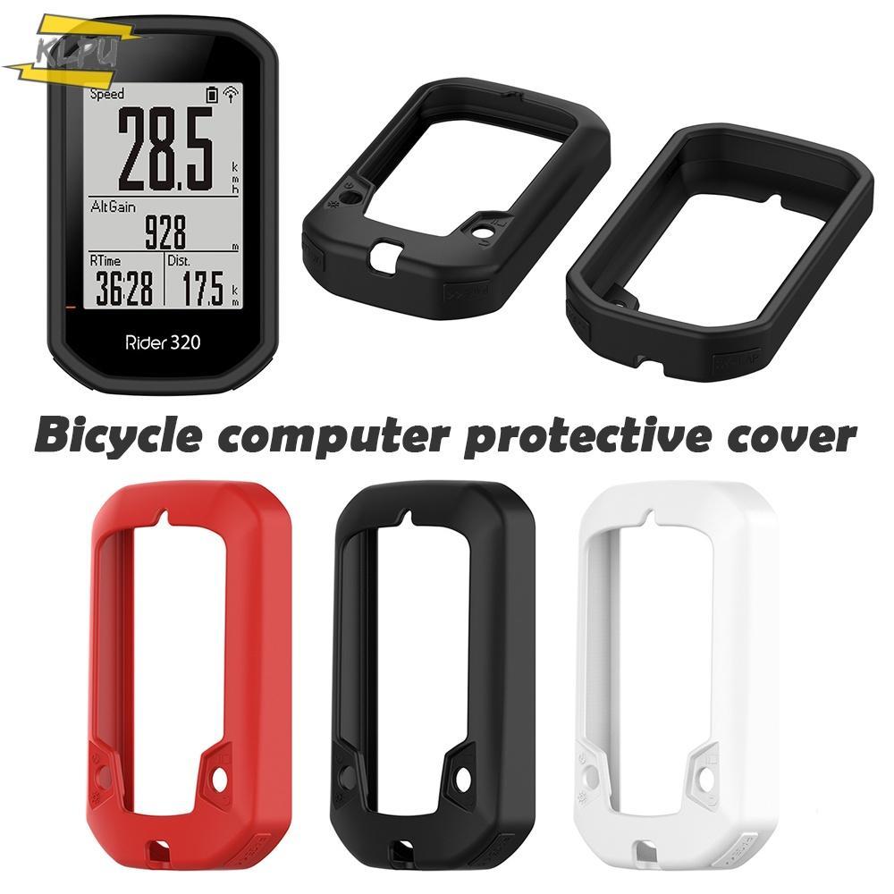 Klpu 保護套適用於 Bryton 自行車計算機騎手 320 矽膠騎手 430 盒
