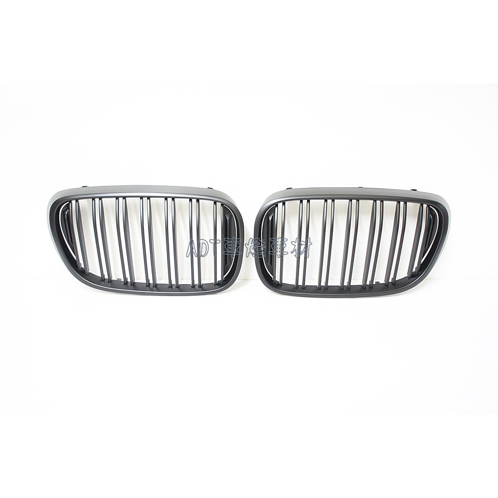 ~~ADT.車燈.車材~~BMW 新大7 G11 G12 雙線霧黑鼻頭 雙槓消光黑水箱護罩