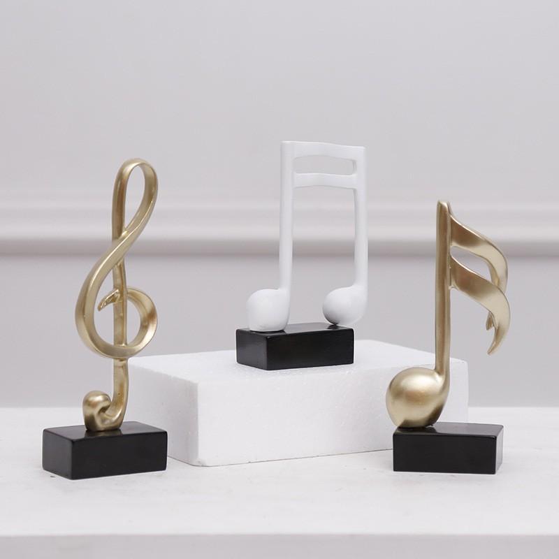 現代簡約音樂獎杯五線譜音符鋼琴擺件家居裝飾品鋼琴房工藝品禮品