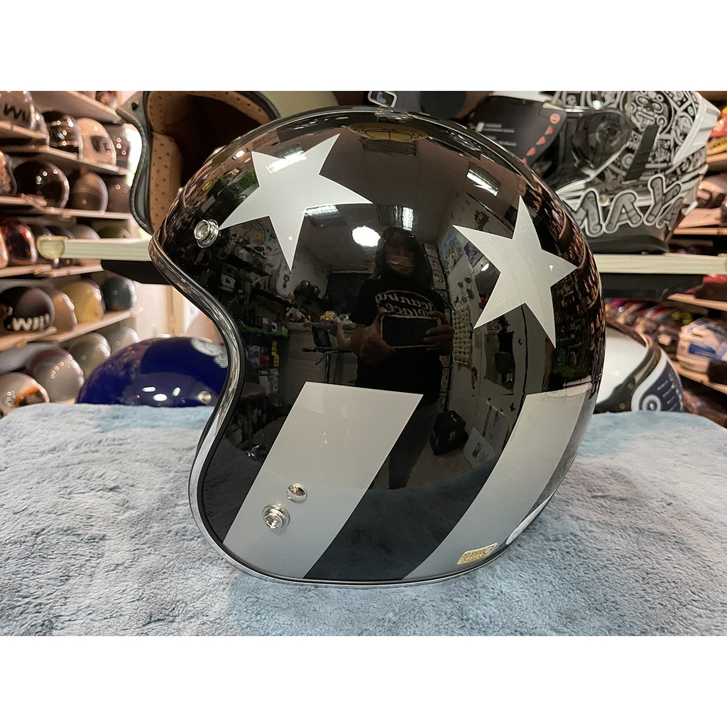 Torc T50 系列復古帽  CAPTAIN VEGAS 亮光白 安全帽