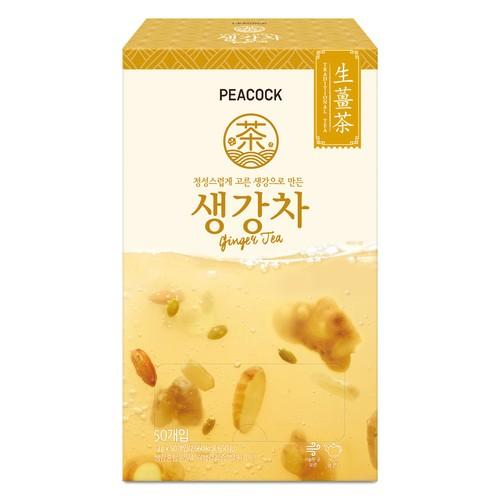 [韓國直送][PEACOCK] 薑茶 50 入