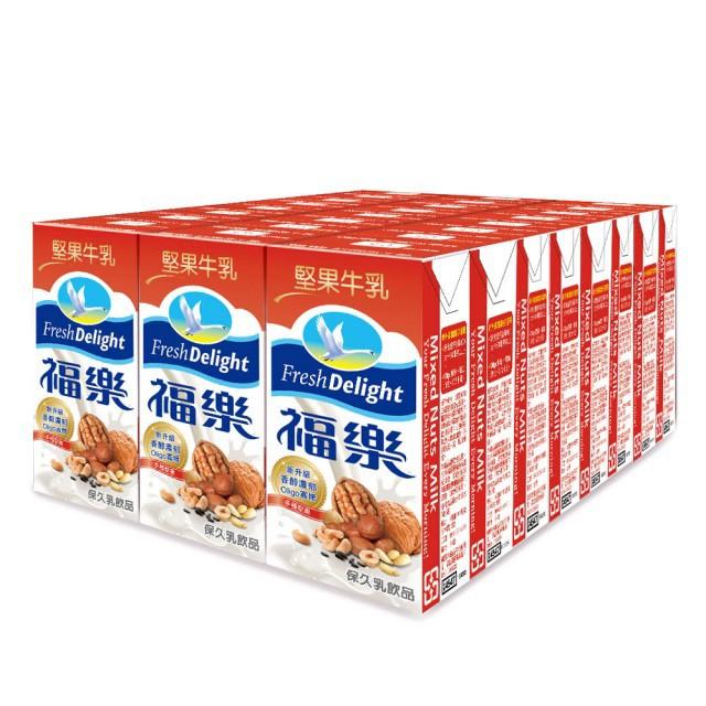 福樂堅果牛乳200mlx24包/箱  【大潤發】