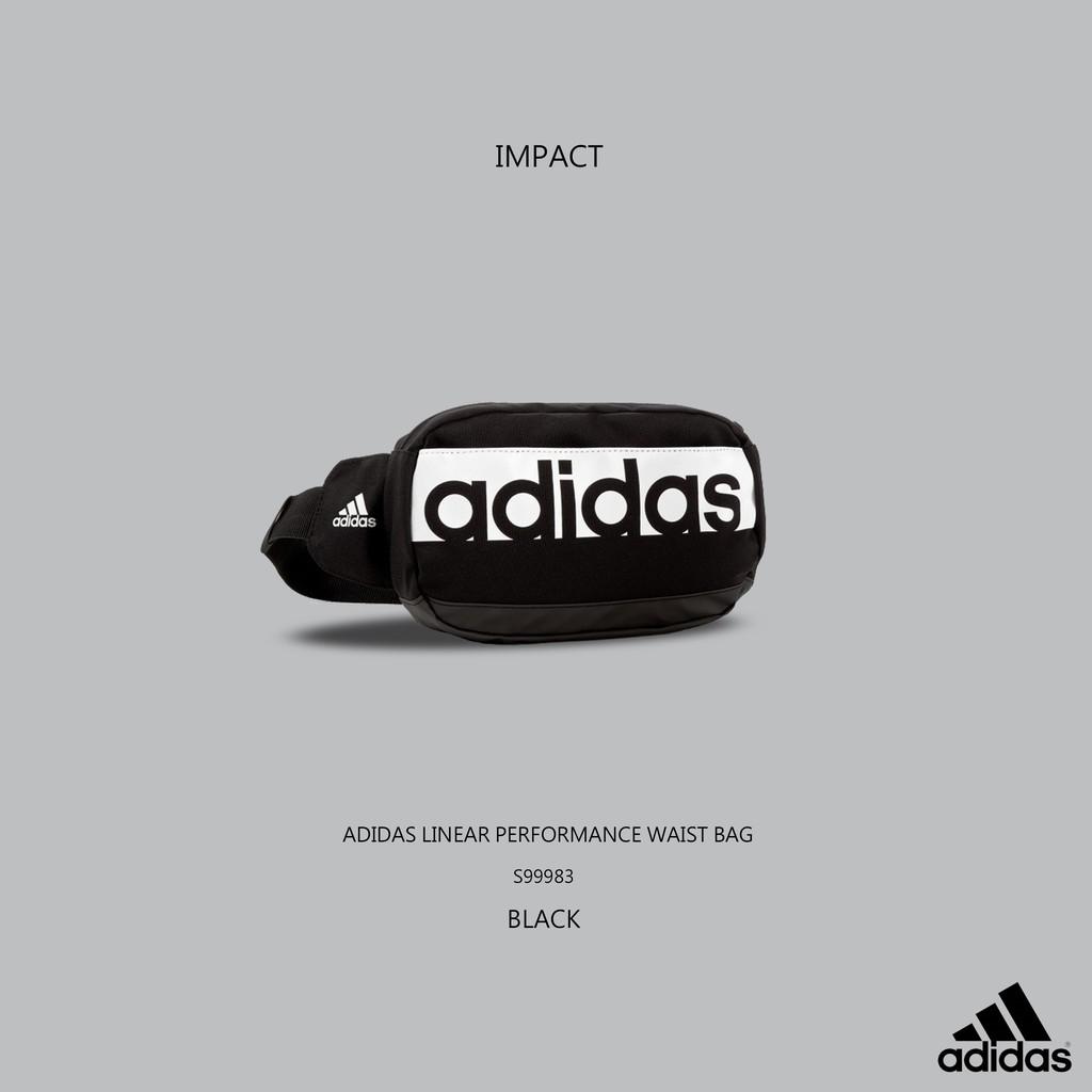 159c9978f Adidas Linear Performance Waist Bag 黑腰包斜肩包S99983 IMPACT
