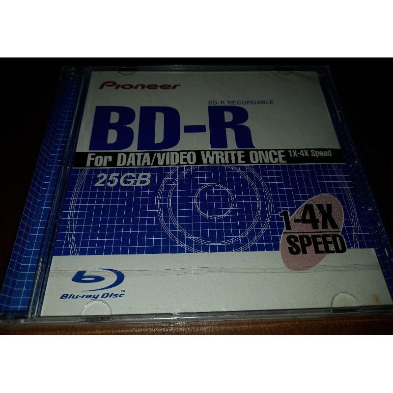 【二手】全新未開 Pioneer BD-R 1-4X  25GB  先鋒 藍光燒錄片  單片裝