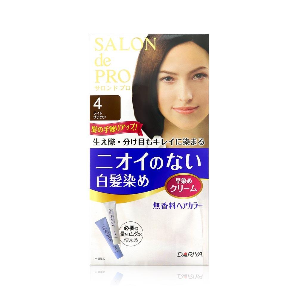 日本DARIYA 塔莉雅 SALON de PRO 沙龍級染髮劑-4號淺褐色